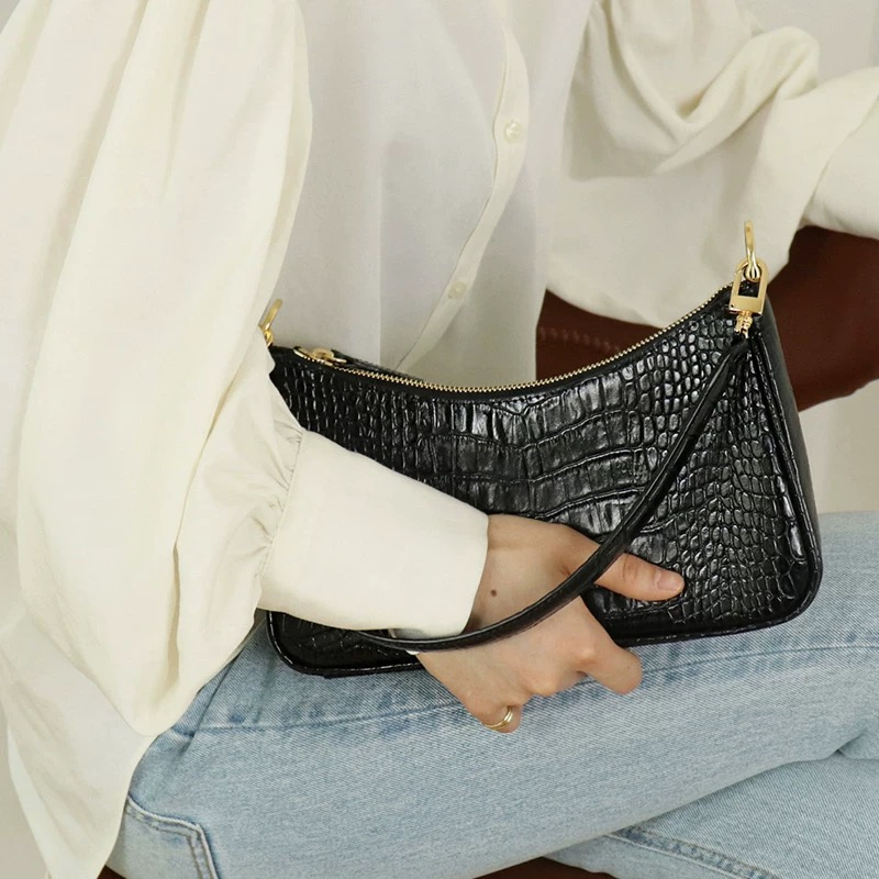 Luxury Handbags Women Bags Designer Vintage Alligator Women's Handbags High Quality Female Shoulder Bags Girls Leather Purses