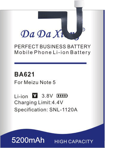 Free shipping <font><b>BA621</b></font> 5200mAh Battery For <font><b>Meizu</b></font> Meilan Note 5 M5 Note5 Replacement batteries + free tools image