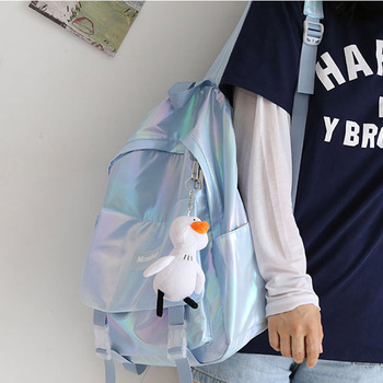 цена на Lightweight Travel Bags Silver Laser Backpack Girls Shoulder Bag Waterproof Holographic Backpack School Bags for Teenage Girls