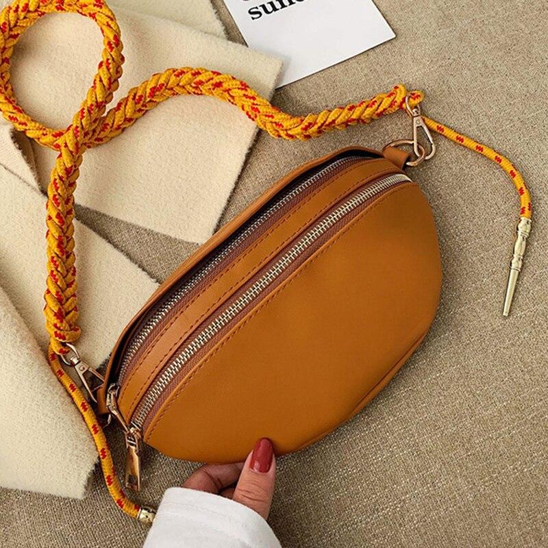 DORANMI Leather Fanny Pack Women's Waist Bags 2019 Luxury Brand Designed Waist Pack Crossbody Chest Bags Zipper Nerka BG063