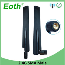 10pcs 2.4GHz Antenna wifi real dBi SMA male 2.4 ghz antena wi fi antenne Aerial antennas antenas for Wireless wi-fi Router модем zte mf79 usb wi fi router черный