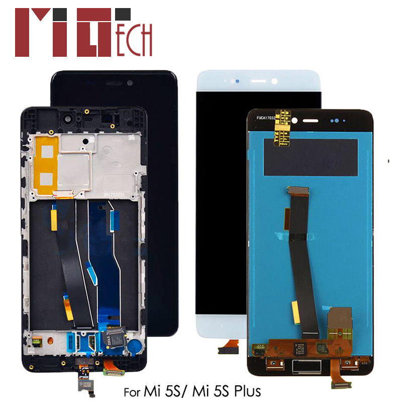 LCD Display For Xiaomi Mi 5S 5.15'' Touch Screen Digitizer Assembly Replacement Black White No/ With Frame No Fingerprint