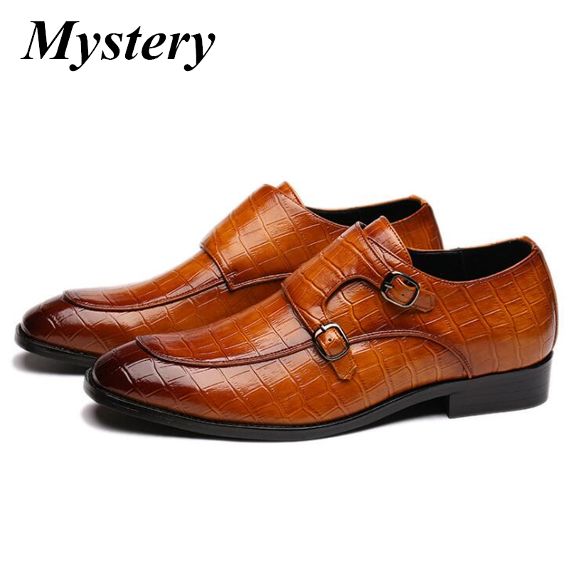 Haute qualité nouveaux hommes chaussures formelles en cuir véritable oxford chaussures hommes métal ceinture boucle noir robe de mariée chaussures brogues zapatos
