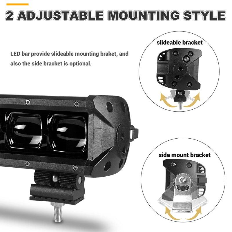 Led-Bar-Light Spotlight Lens Offroad UAZ Single-Row Driving 40inch 24V 6D for 4WD ATV