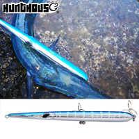 Hunthouse aguja stylo señuelo de pesca de lanzamiento largo lápiz stickbait flotante y hundimiento 205mm 31/36g skipping garfish sphyraena pesca