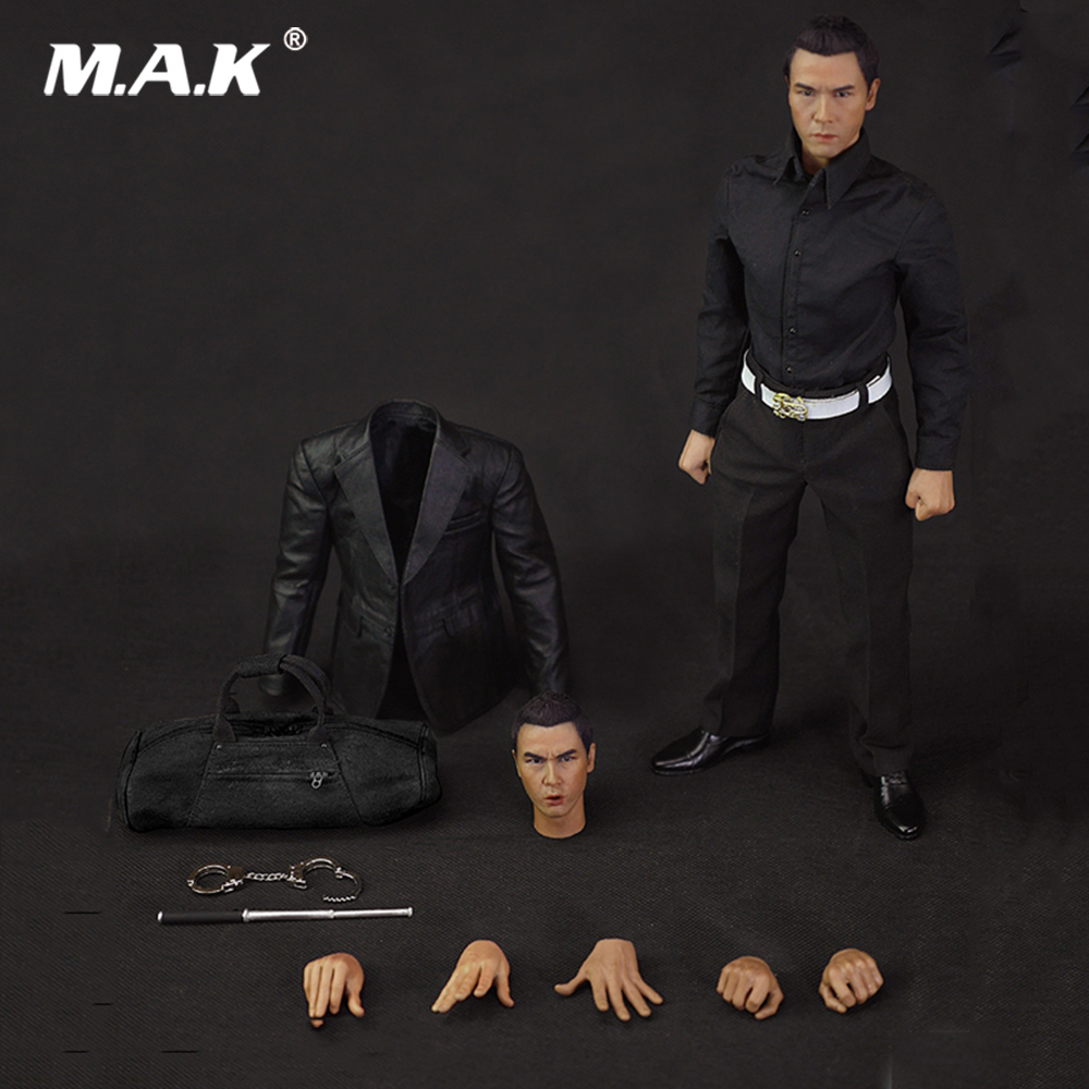 For Collection 1/6 Scale ZH001 HK CID Senior Inspector Donnie Yen Sir Double Heads Full Set Figure Model Doll for Fans Gifts image