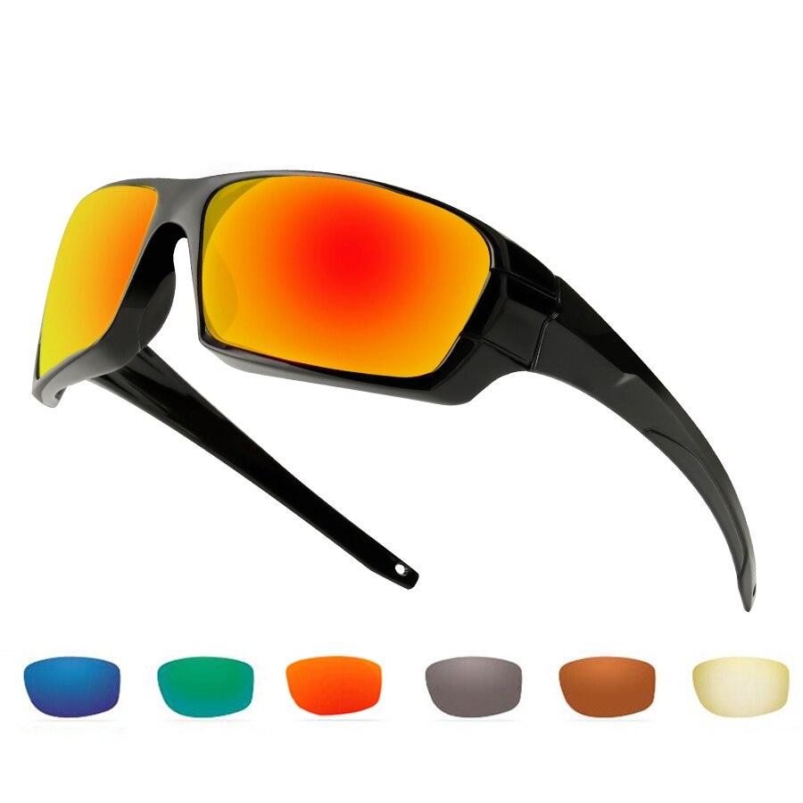 NEWBOLER Polarized  Sunglasses Fishing Anti Glare Sport Sun Glasses Fishing Running Hiking Camping Eyewear UV 400 6 Lens Option