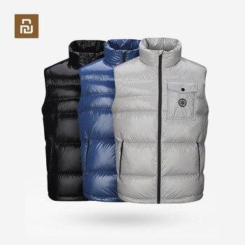 New Youpin ULEEMARK Men's Lightweight Down Vest 90% White Duck Down 5+cm Fluffiness Lightweight Design Warm Down vest