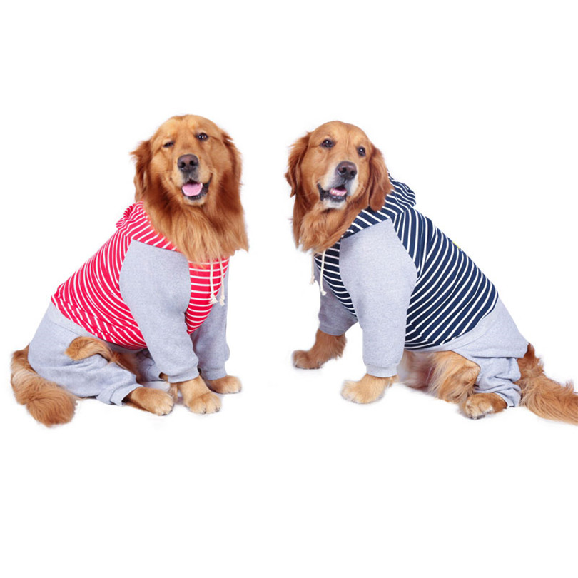 Cotton jumpsuit clothes for large dogs (5)