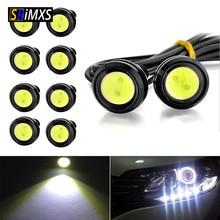 10PCS / Pack 23 MM Car Eagle Eye DRL Led Daytime Running Lights LED 12V Backup Reversing Parking Signal Automobiles Lamps
