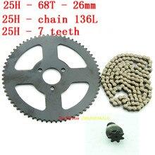 Loops-Chain Pocket-Bike Quad Moto-Drive-System 25H 49cc Mini 146/158-Links with Rear