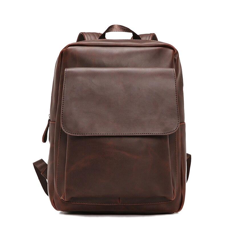 JIULIN черные рюкзаки рюкзак на молнии маленькие мужские модные однотонные ПУ мужские сумки для Mara's Dream - 5