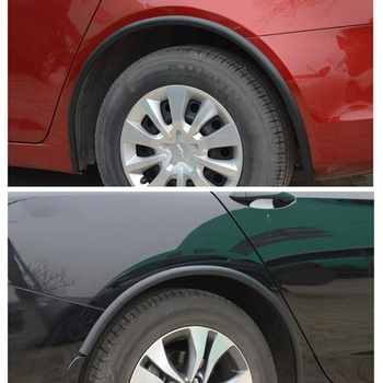 Soft Car Fender Flares Extension Wheel Eyebrow Protector Lip Wheel-arch Trim Wheel Eyebrow Decorative Strip Car Tires Eyebr image