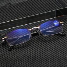 PENN Ultraleves Óculos Sem Aro óculos de Leitura Óculos de Mulheres Homens de Negócios Azul Claro Anti Computador Óculos de Leitura Presbiopia Leitor de 1.5 Mulheres