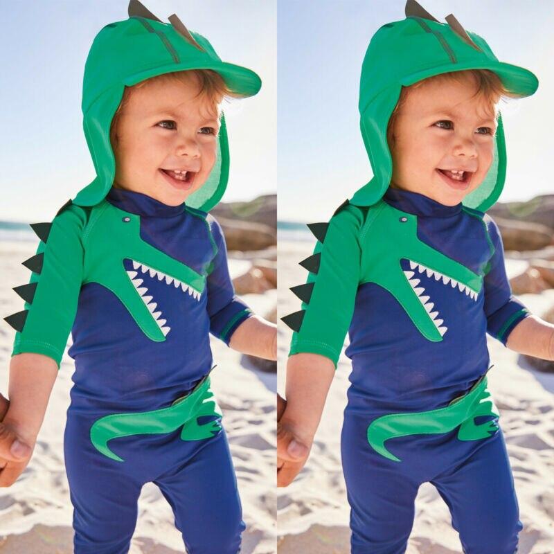 dinossauro 1 pc maio roupa de banho 02