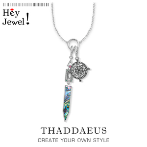 Charm Necklace Compass & Art Deco,2019 Winter Ts Fashion Filigree Jewelry Thomas 925 Sterling Silver Bijoux Gift For Women Men(China)