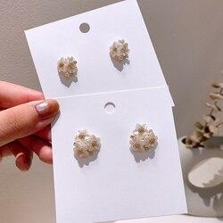 MENGJIQIAO New Korean Japan Cute Shell Star Flower Stud Earrings For Women Gifts Delicate Elegant Boucle D'oreille  Jewelry