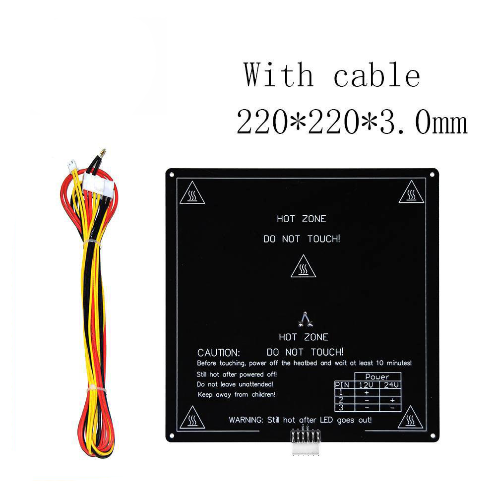 MK3 12V Hotbed Aluminum <font><b>Heated</b></font> <font><b>Bed</b></font> <font><b>220</b></font>*<font><b>220</b></font>*3.0mm with line Upgraded MK3 hotbed for Mendel RepRap i3 3d printer parts Hot-<font><b>bed</b></font> image