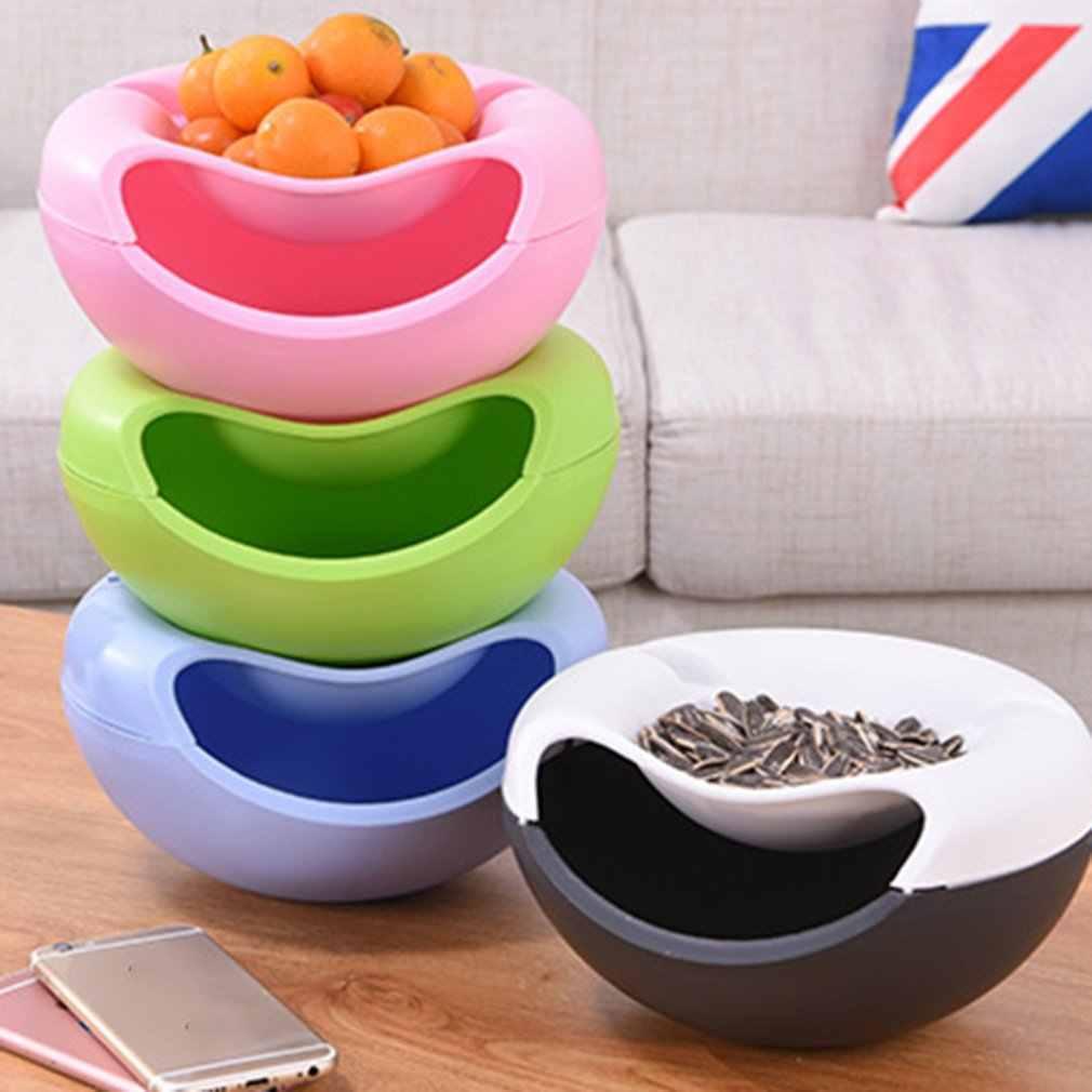 Dubbele Laag Meloen Zaad Schotel Zitkamer Plastic Droog Fruit Mand Lui Persoon Neemt Meloen Zaad Ware Droog Fruit Box