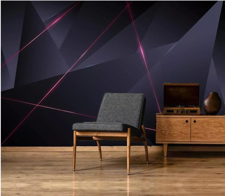 Custom Creative Abstract Geometric Lines Living Room Bedroom Background Wallpaper Mural