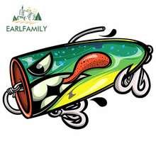 EARLFAMILY – autocollants en vinyle pour la pêche, 13cm, pour voiture, coffre d'ordinateur portable, chaîne de voiture, impression personnalisée, pour fenêtre