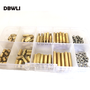 120pc M3 M2.5 Brass Male Femal