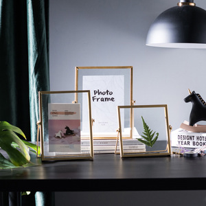 Cutelife Nordic Gold Metal Painting Picture Poster Frame DIY Wall Photo Cube Frame Baby A4 Poster Black Family Decorative Frame