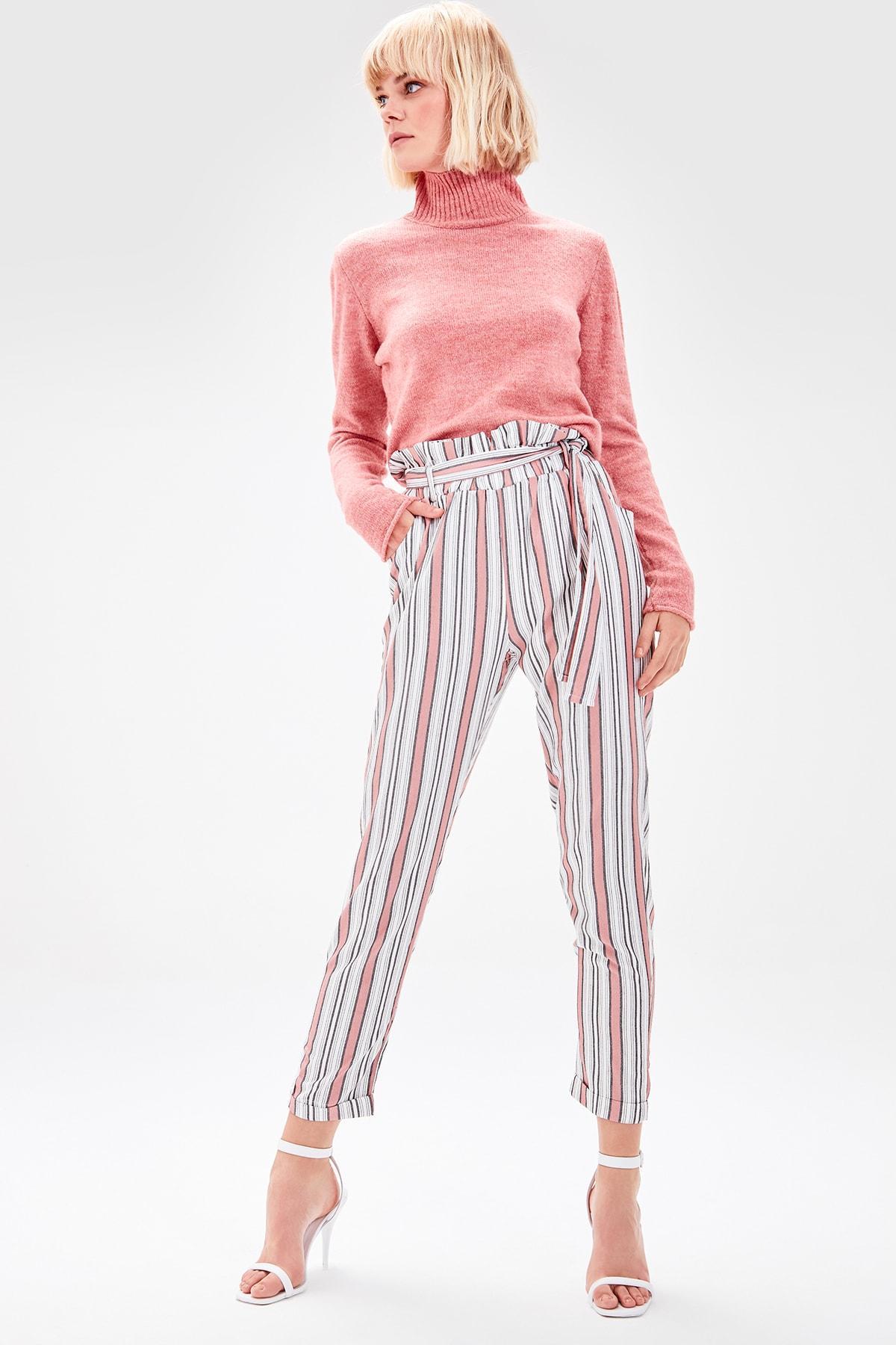 Trendyol Tile Lacing Detaylı Pants TWOAW20PL0156