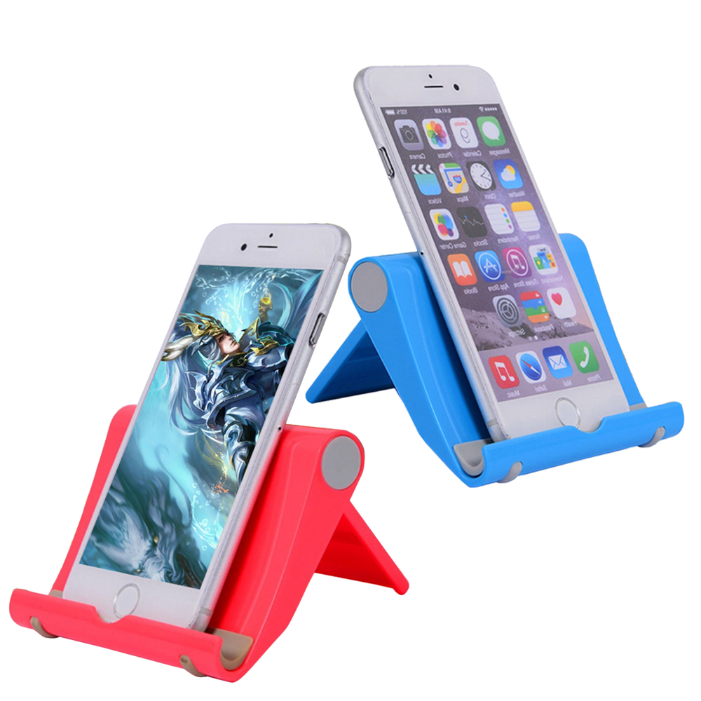 Phone Holder Stand Support Telephone Portable Adjust Universal Plastic Stands Holder Desk For Tablet IPad Mobile Phone 6 Colors