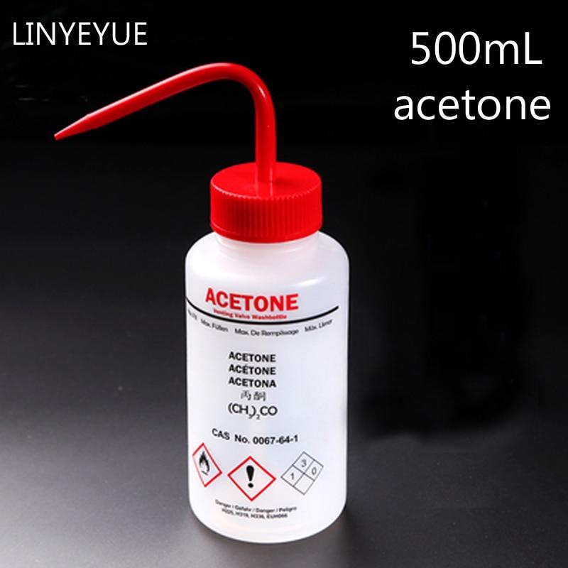 LINYEYUE 500ml Plastic Acetone Washing Bottle Blow Wash Squeezy Laboratory Bottle