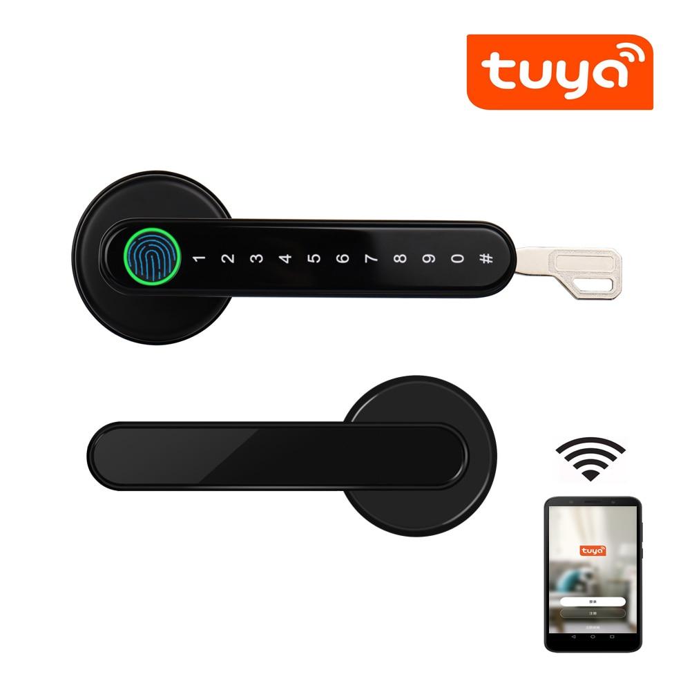 Tuya Smartlife APP Bluetooth Remote Control Smart Fingerprint Biometrics Lock For Indoor...