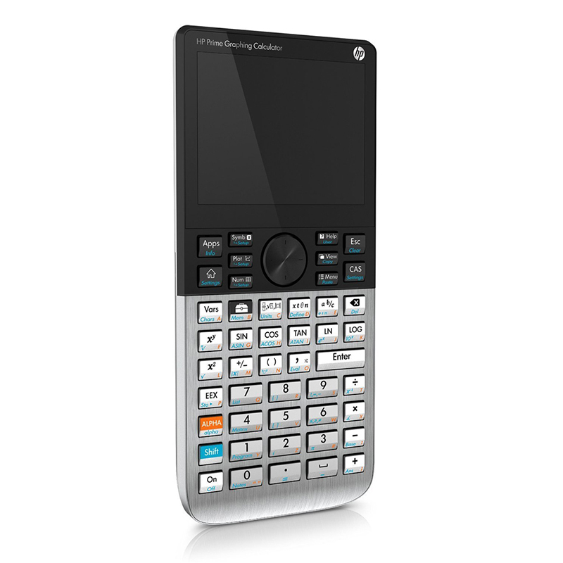 HP Calculator HP Prime 3.5-inch Touch Color Screen Graphic Calculator SAT/AP/IB Clear Calculator Teacher Supplies