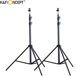 K&F Concept 2 Packs 81 inch Aluminium Tripod Light Stands With Ball mount for Portrait Product Photography Softboxes Umbrellas