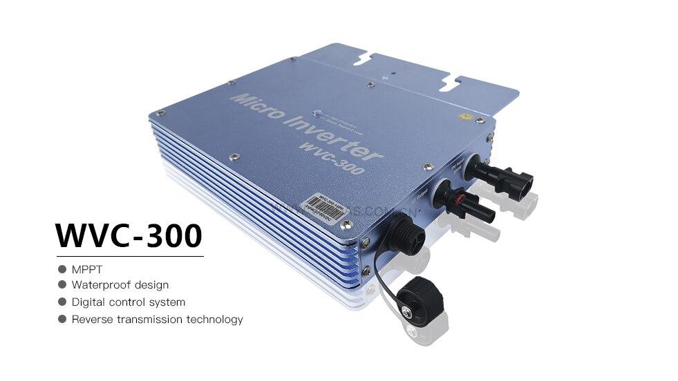 H7323b24c19934766acf69a79bd5056f8g - 300W Micro Inversor Solar MPPT Grid Tie Inverter Microinverter 24V 220V Pure Sine Wave Inverter 22-50VDC Wtih 1 Year Warranty