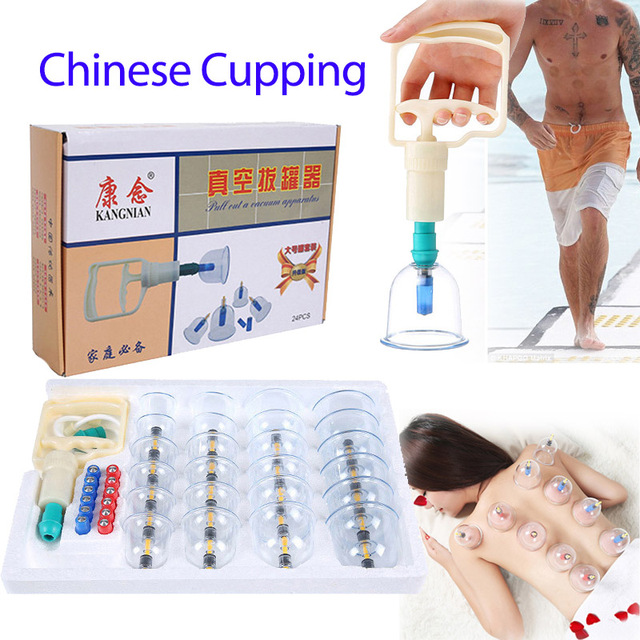 6-24pcs Chinese Medicine Cupping sets Generic Suction Cups Vacuum Cans Cup kits body Healthy Care anti cellulite Therapy ventosa