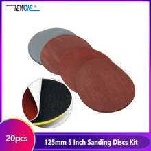 20pcs 125mm 5 Inch Sanding Discs 1000 1500 2000 3000 Grit Polishing Sand Paper For Power Tools