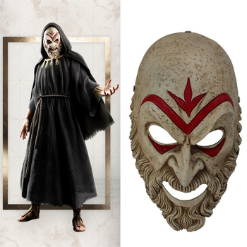 Assassin Odyssey Villain Master Creed Cosplay Mask Halloween Party Performance Game High Quality ABS Resin Masks
