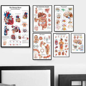 NT078 Foot Anatomy Human Body Medical Heart Larynx System Poster Wall Art Canvas Painting Picture Prints Living Home Room Decor(China)