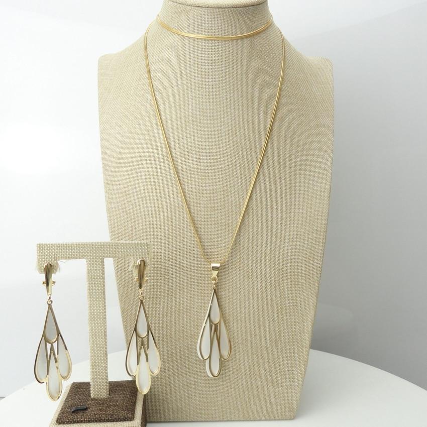 Yuminglai Italian Jewelry 24K Dubai Costume Jewelry Sets Pendants With Earrings FHK6921