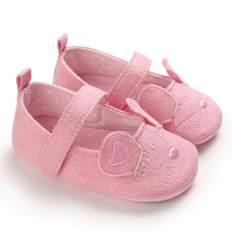Baby Girl Shoes Cartoon Mouse Ear Design Princess Baby Shoes First Walkers Newborn Moccasins For Girls