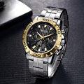 Мужские кварцевые часы с хронографом  брендовые Роскошные Водонепроницаемые наручные часы  Reloj Hombre Saat  новинка 2019