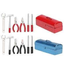 6 pçs 1/10 rc rastreador mini martelo chave ferramentas caixa 1:10 acessórios para traxxas hsp redcat axial d90 rc peças de carro