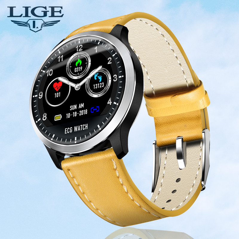 <font><b>2019</b></font> <font><b>New</b></font> ECG + PPG <font><b>Smart</b></font> <font><b>Watch</b></font> Men IP67 Waterproof Sport <font><b>Watch</b></font> Heart Rate Monitor Blood Pressure Smartwatch For Android iPhone image
