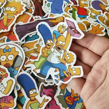 30/50pcs/Lot Funny Anime Cartoon Simpsons Graffiti Stickers For Car Moto Suitcase Cool Laptop Stickers Skateboard Kids Stickers image