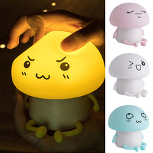Hot Sale LED Silicone Night Light Bedroom Baby Feeding Bedside Table Lamp Induction USB Gifts for Kids Dropshipping