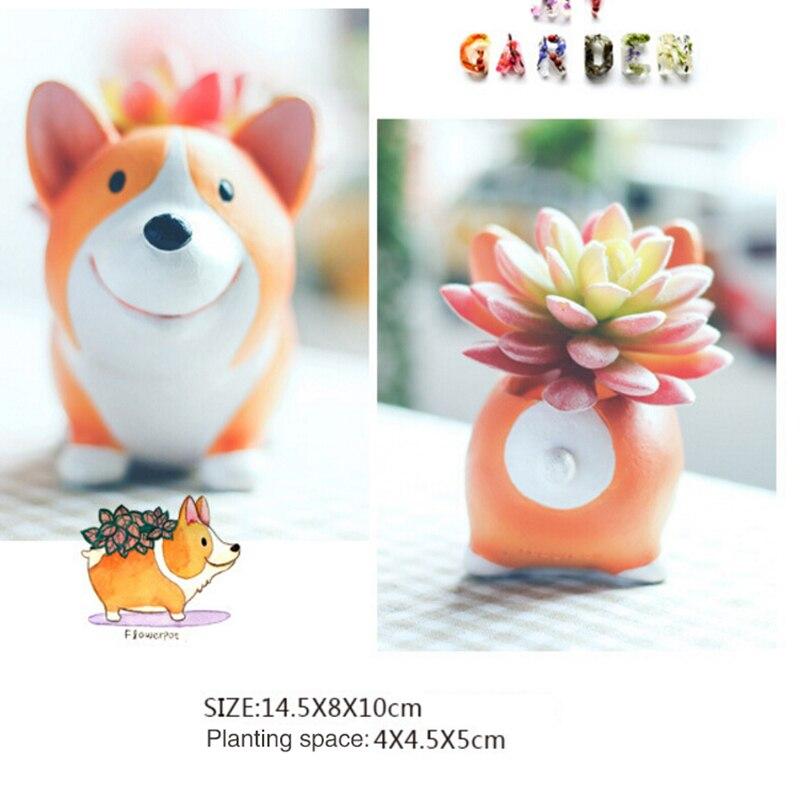 Собачий цветочный горшок из смолы, Настольная плантатор, Милая модель, игрушечная ручка, горшок для сада, цветочный горшок, товары для сада|Цветочные горшки и кадки|   | АлиЭкспресс
