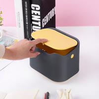 Mini Desktop Trash Can Creative Covered Kitchen Living Room Waste Bins Office Debris Home Bedroom Storage Box Rolling Cover Type