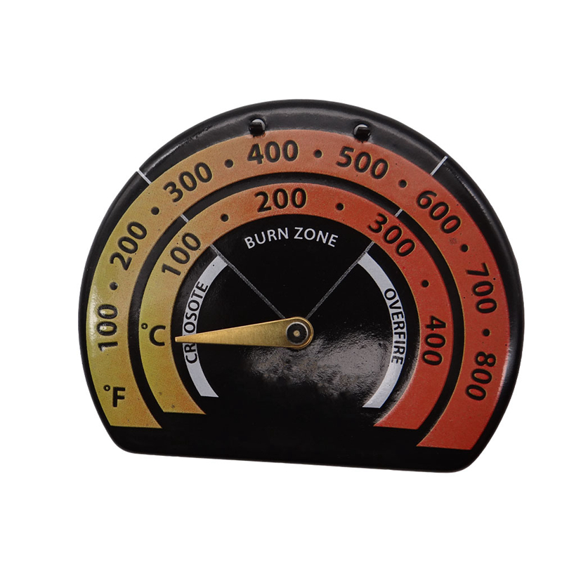 Fireplace Thermometer Wood Log Burning Stove Pipe Fire Flue Heater Aluminum Alloy High Quality