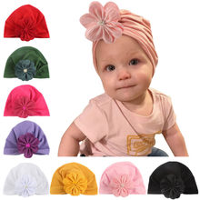 2019 Cute Baby Hats For Newborn Toddler Fashion Kids Baby Boy Girl Cotton Beanie Hat Floral Winter Warm Cap cappelli bambino(China)