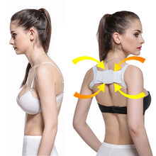 JAYCOSIN Back Corrector Posture Corrector Comfortable Back Support Strap Braces Shoulders Chest Belt Adjusted-straps Black White(China)